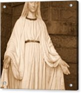 Statue Of Mary At Sacred Heart In Tampa Acrylic Print