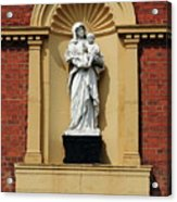 Statue Of Mother And Child Acrylic Print