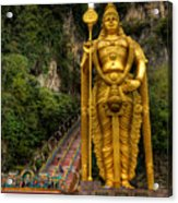 Statue Of Murugan Acrylic Print by Adrian Evans