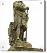 Statue Of Robert The Bruce Stirling Castle Acrylic Print