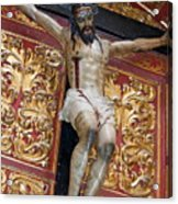 Statue Of The Crucifixion Inside The Catedral De Cordoba Acrylic Print