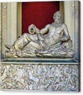 Statue Of The Greek River God Tiberinus At The Vatican Museum Acrylic Print