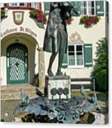 Statue Of Young Wolfgang Amadeus Mozart In St. Gilgen, Austria Acrylic Print