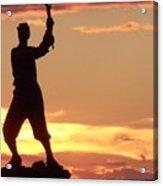 Statue On Cemerty Ridge Acrylic Print