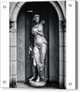 Statue Under Cover Acrylic Print