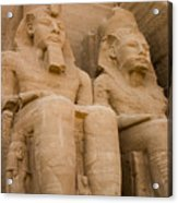 Statues At Abu Simbel Acrylic Print