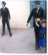 Statues Depicting Shooters In O.k. Corral Gunfight Tombstone Arizona 2004 Acrylic Print