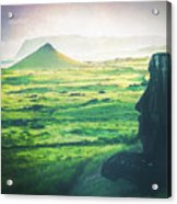 Statues Of Easter Island Acrylic Print