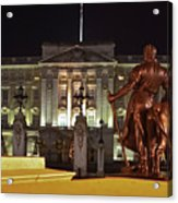 Statues View Of Buckingham Palace Acrylic Print