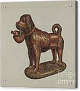Statuette Of A Dog Acrylic Print
