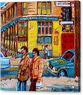 Ste. Catherine Street Montreal Acrylic Print