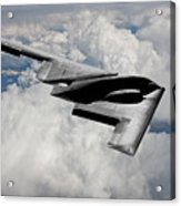 Stealth Bomber Over The Clouds Acrylic Print