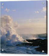 Steam Cloud And Lava Acrylic Print
