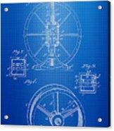 Steam Engine Blueprint Acrylic Print