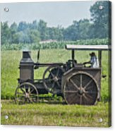 Steam Engine Plowing Acrylic Print