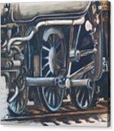 Steam Engine Wheels Acrylic Print