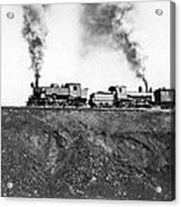 Steam Engines Pulling A Train Acrylic Print