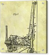 Steam Powered Oil Well Patent Acrylic Print