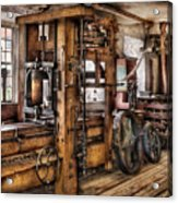Steam Punk - The Press Acrylic Print by Mike Savad