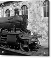 Steam Train In Station Acrylic Print