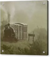Steam Train In The Mist Acrylic Print