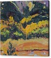 Steamboat Lake State Park Sand Mountain From Bridge Island Acrylic Print by Zanobia Shalks