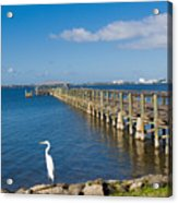 Steamboat Landing Ot Melbourne Beach In Florida  Acrylic Print