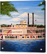 Steamboat On The Mississippi Acrylic Print