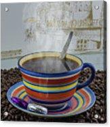 Steaming Coffee  Acrylic Print
