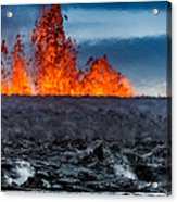 Steaming Lava And Plumes Acrylic Print