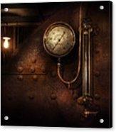 Steampunk - Boiler Gauge Acrylic Print by Mike Savad
