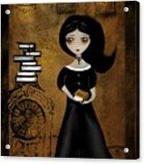 Steampunk Bibliophile Acrylic Print by Charlene Zatloukal
