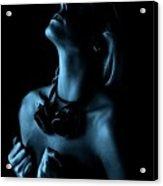 Steampunk Blue Acrylic Print