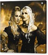 Steampunk Maidens Acrylic Print