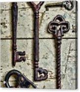 Steampunk - Old Skeleton Keys Acrylic Print