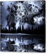 Steampunk Polar Bear Landscape Acrylic Print