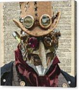 Steampunk Robot Acrylic Print