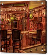 Steampunk Speakeasy Mancave Bar Art Acrylic Print