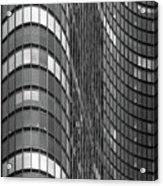 Steel And Glass Curtain Wall Acrylic Print by Photo by John Crouch