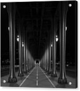 Steel Colonnades In The Night Acrylic Print