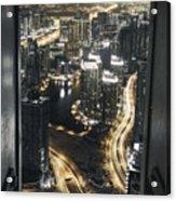 Steel Curtains Acrylic Print
