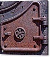 Steel Door Acrylic Print