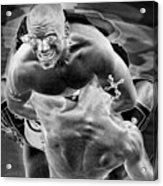 Steel Men Fighting 2 Acrylic Print