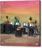 Steel Pan Players Antigua Acrylic Print
