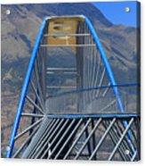 Steel Pedestrian Bridge In Ibarra Acrylic Print