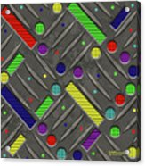 Steel Plate Geometrics Acrylic Print