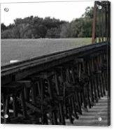 Steel Rails Acrylic Print