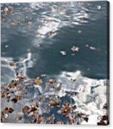 Steel Sky On Lake Acrylic Print