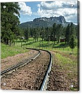 Steel Tracks In The Black Hills Acrylic Print