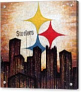Steelers. Acrylic Print by Mark M  Mellon